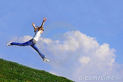 Woman jump