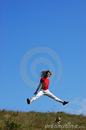 Free Woman Jump Royalty Free Stock Images - 749049