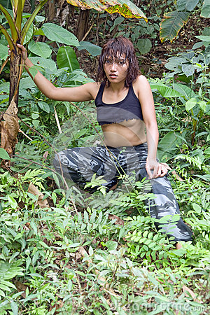 Woman in jungle