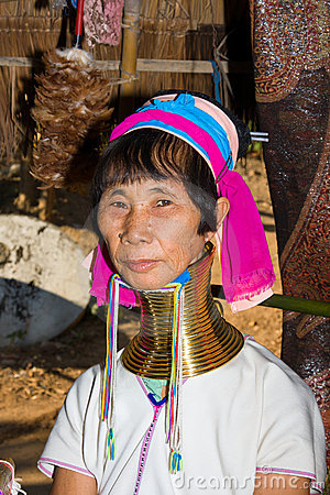 Woman of the Karen tribe Editorial Stock Image