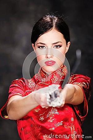 Woman and katana / sword