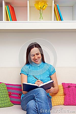 Woman keeping a journal