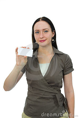 Woman keeps card