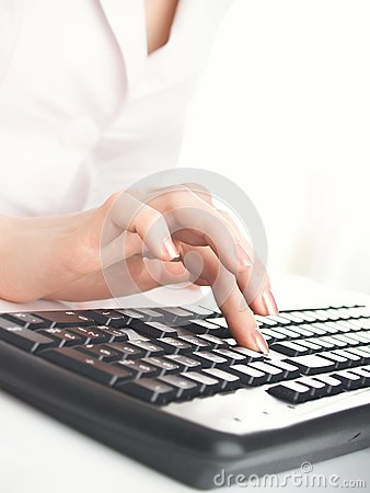 Woman with keyboard