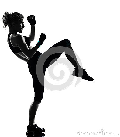 Free Woman Kickboxing Posture Boxer Boxing Stock Photo - 25040850