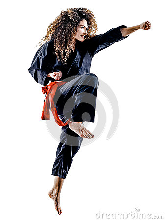 Free Woman Kung Fu Pencak Silat Isolated Stock Image - 91248641
