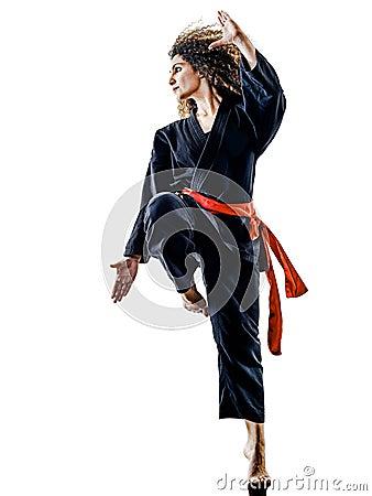 Free Woman Kung Fu Pencak Silat Isolated Stock Photo - 98519420