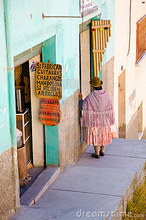 Woman in La Paz, Bolivia Editorial Stock Photo