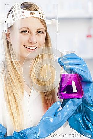 Woman in laboratory