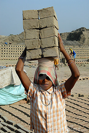 Woman Labour in India Editorial Stock Photo