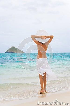 woman lanikai beach
