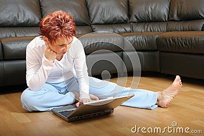 Woman On A Laptop 4