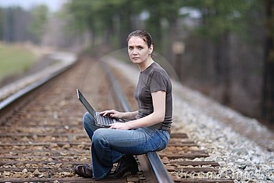 Woman with laptop