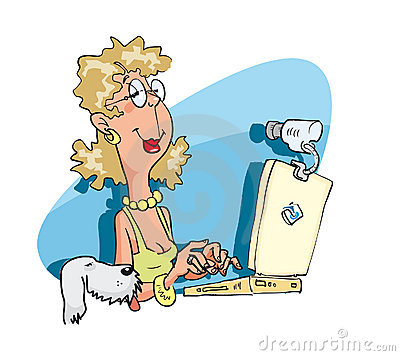 Woman with the laptop pc