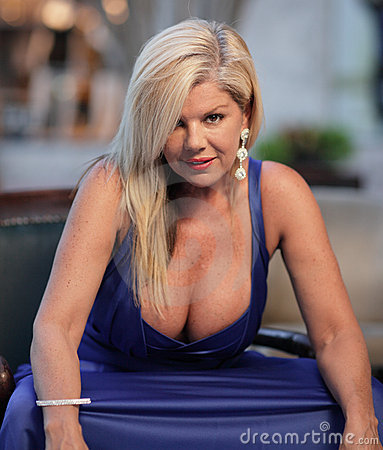 Woman with large breasts