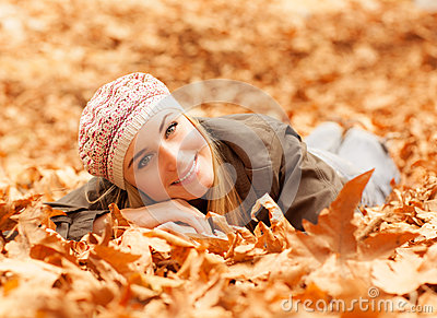 Woman lay on the ground