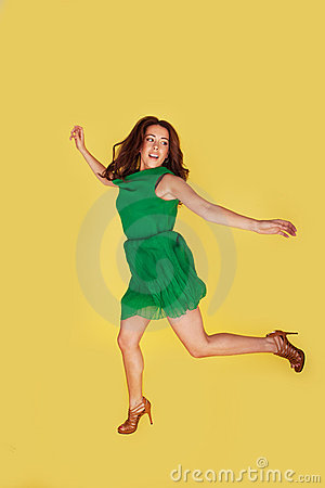 Woman Leaping For Joy