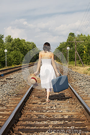 Free Woman Leaving Stock Photo - 26061790