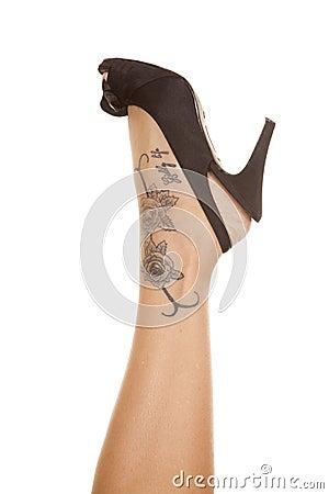 woman leg tattoo on foot stock images image 35216814. Black Bedroom Furniture Sets. Home Design Ideas
