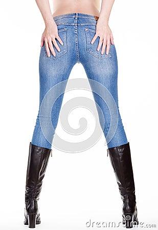 Woman legs back view