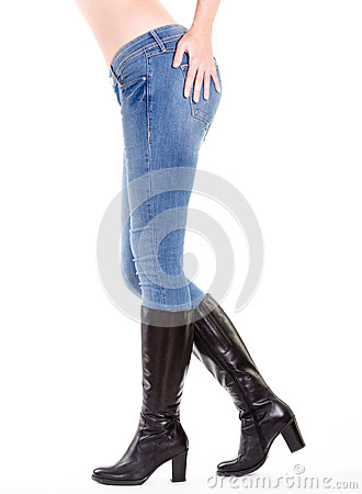 Woman legs in boots