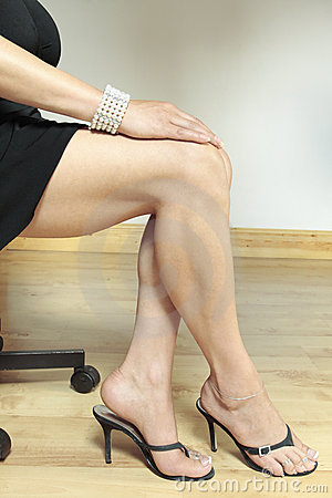 Woman legs with  heels