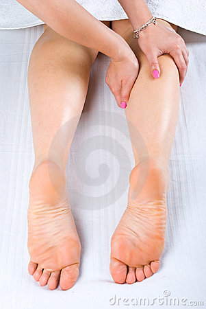 Woman legs massage