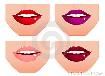 Woman lip set