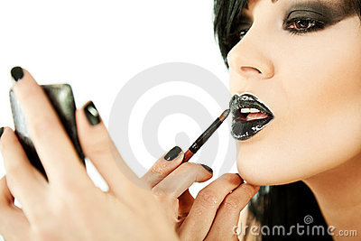 Woman lipstick make up
