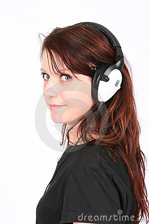 Free Woman Listening To Her Favorite Music Stock Image - 444921