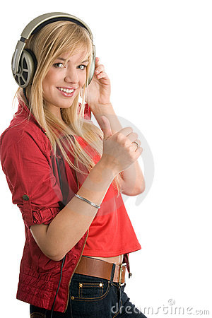 Free Woman Listening To Music Royalty Free Stock Photos - 15681498