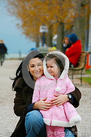 Woman with a little girl