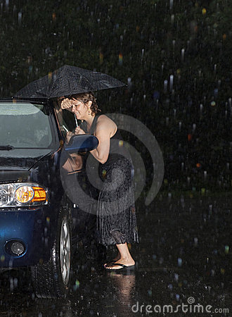 Free Woman Locked Out Of Her Car Stock Photos - 22107783