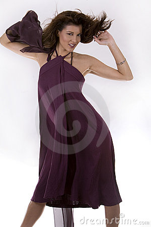 Woman and long dress