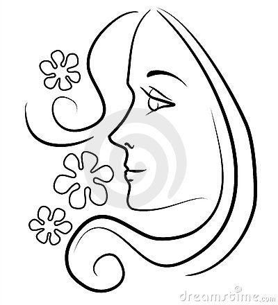 WOMAN WITH LONG HAIR FLOWERS (click image to zoom)