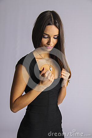 Free Woman Looking At Her Silicon Boobs Royalty Free Stock Photo - 49669375