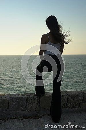 Free Woman Looking At Sea Stock Photography - 490482