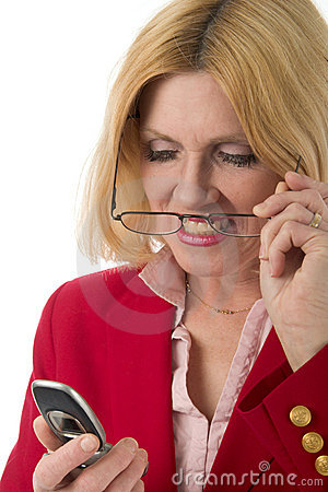 Woman Looking At Cellphone 2