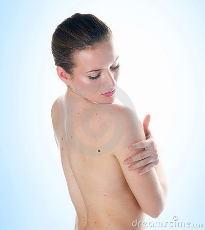 Free Woman Looking Mall On Her Skin Stock Photos - 17435153