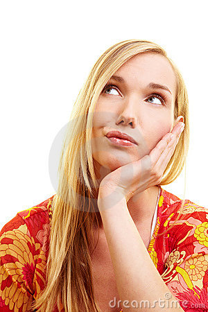 Free Woman Looking Sceptically Royalty Free Stock Photo - 13980995