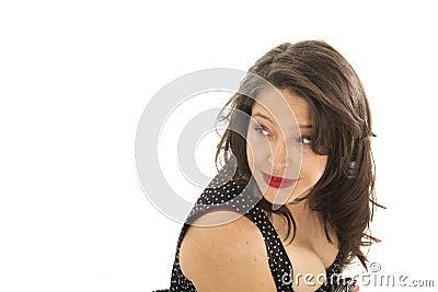 Woman looking on side