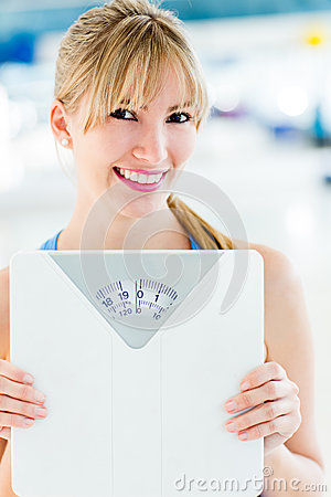 Woman loosing weight