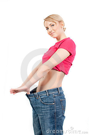 Woman lost weight