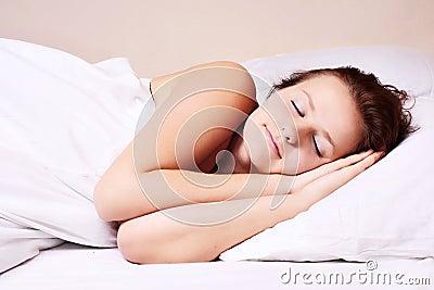Woman lying and sleep