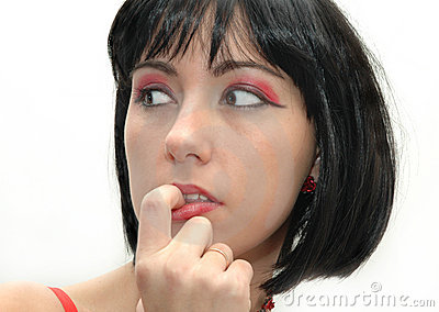 Woman with make-up