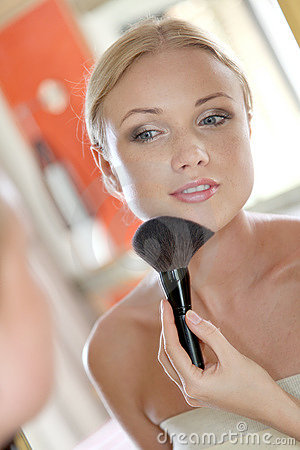 Woman and makeup