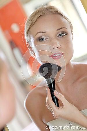 Woman and makeup