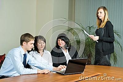 Woman making a business presentation