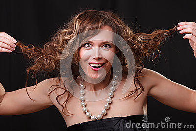 Woman making a funny face