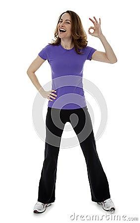 Woman Making Hand Gesture